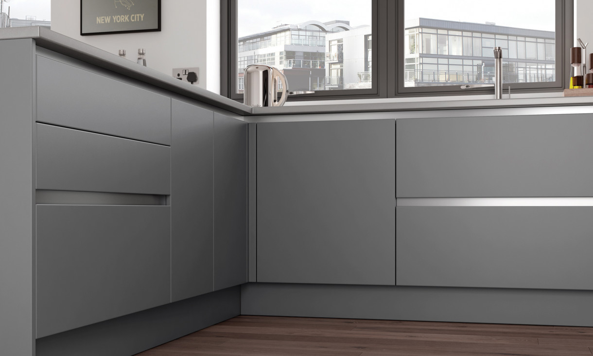 Zola Soft Matte True Handleless Kitchen From Kent Based Cribbit Kitchens And Interiors