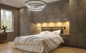 Austerhouse Bedroom - Riga Door in Oxid Slate
