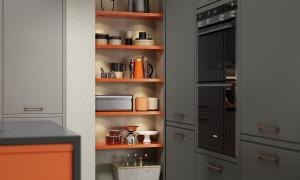 Zola Soft Matte in Graphite, Featuring Dust Grey and Orange