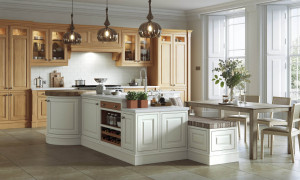 Langley - Painted in Porcelain and White Oak