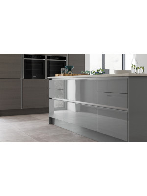 Zola Gloss True Handle-less - Dust Grey